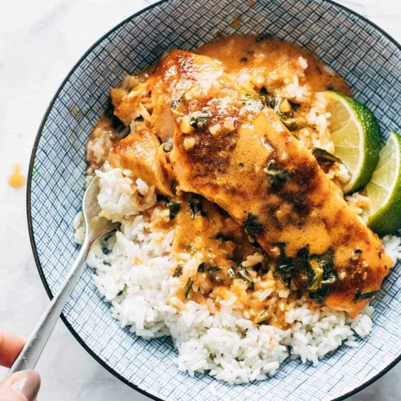 A picture of Coconut Curry Salmon