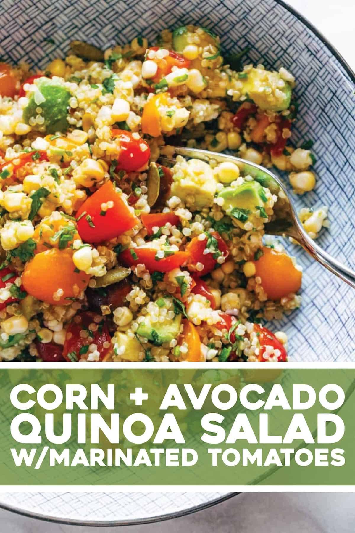 Corn Avocado Quinoa Salad