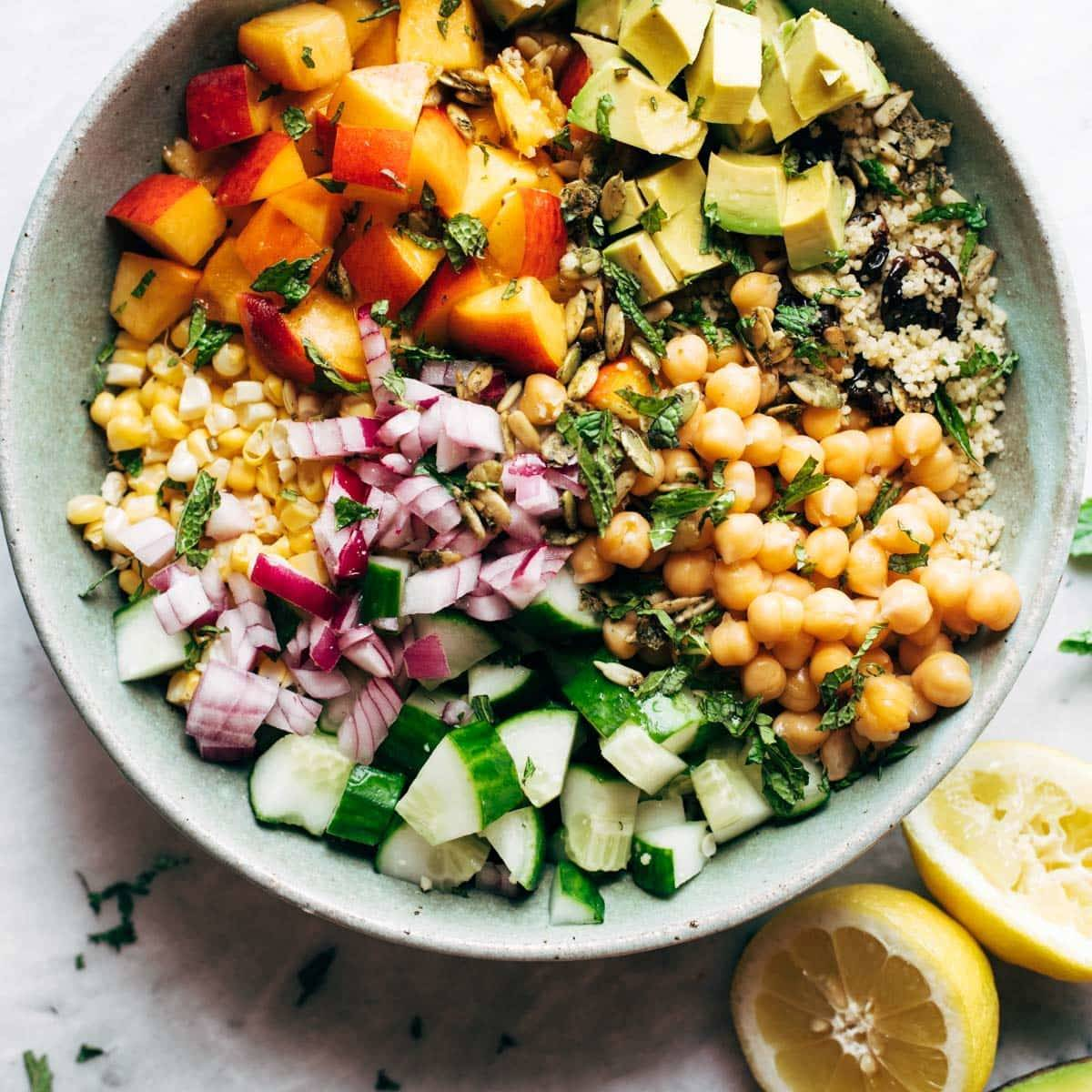 Couscous Summer Salad Recipe - Pinch of Yum