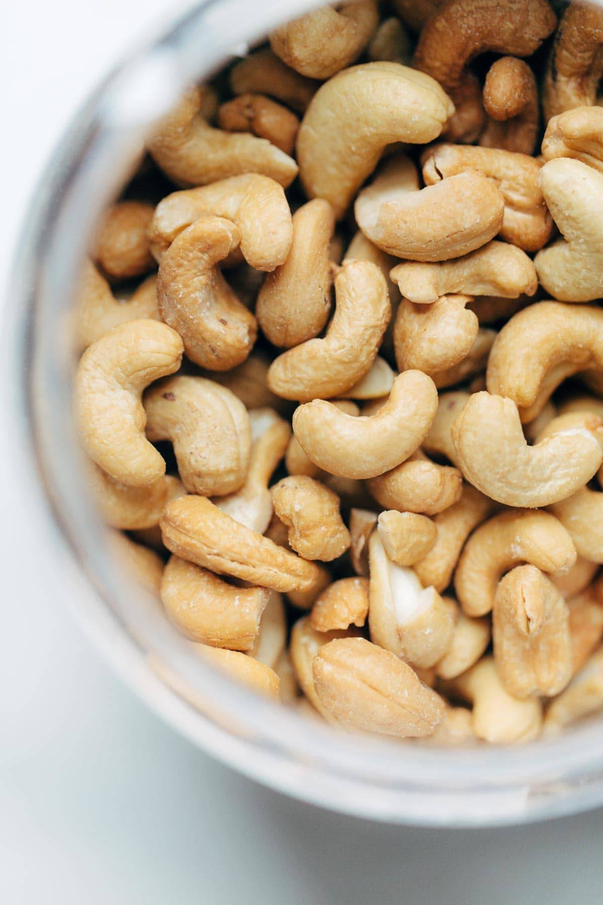 Cashews in a bowl.