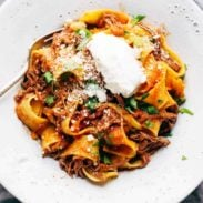 Slow Cooker Beef Ragu in a bowl.