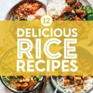 Rice recipes in a collage.