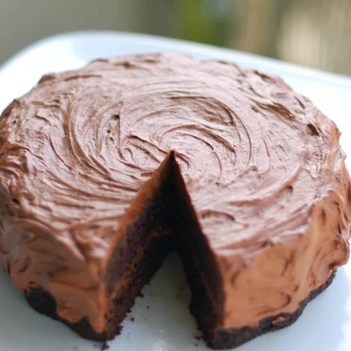 Double Chocolate Cake with Buttercream Frosting Recipe - Pinch of Yum