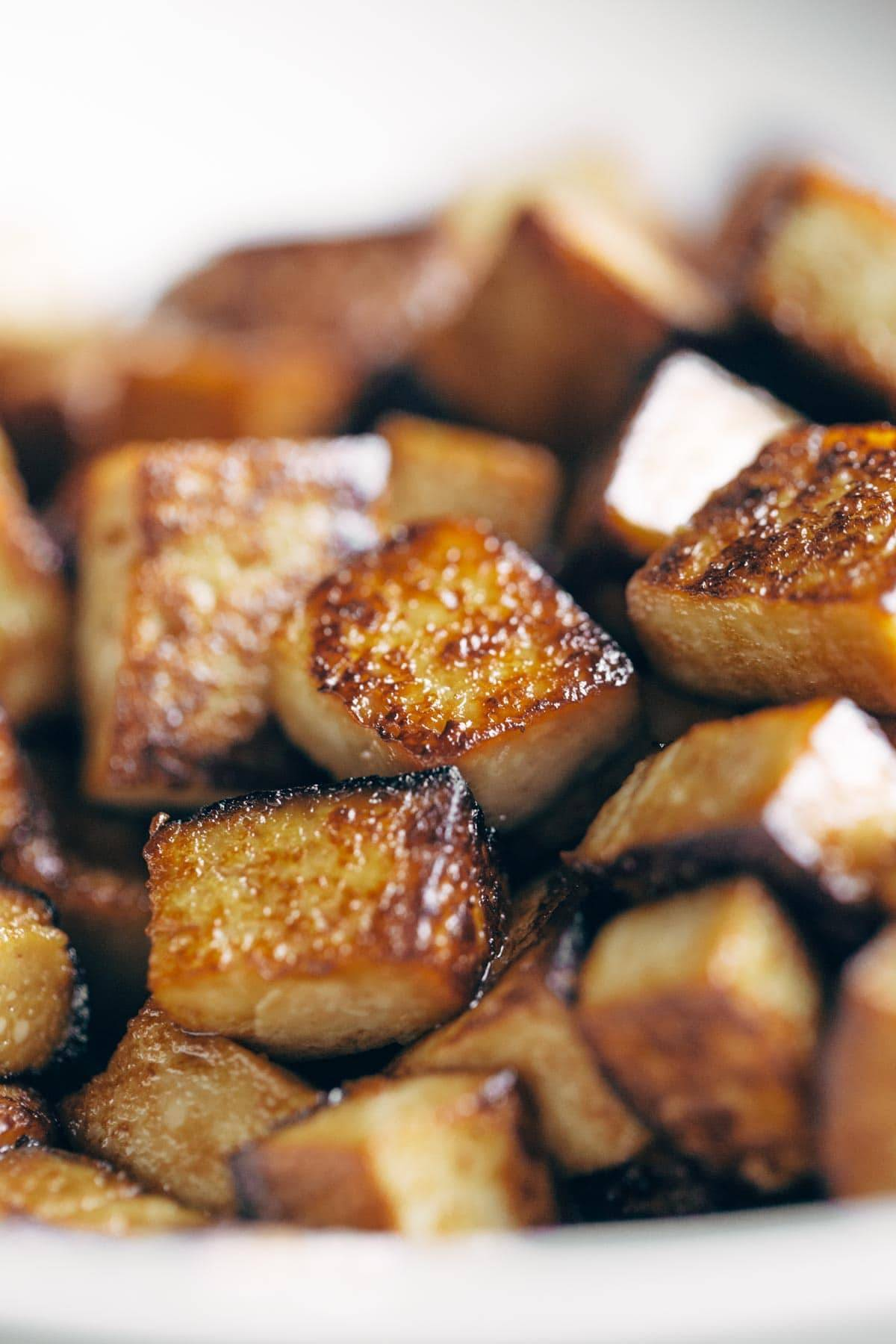 Soy Glazed Tofu for the Dynamite Plant Power Sushi Bowls | pinchofyum.com