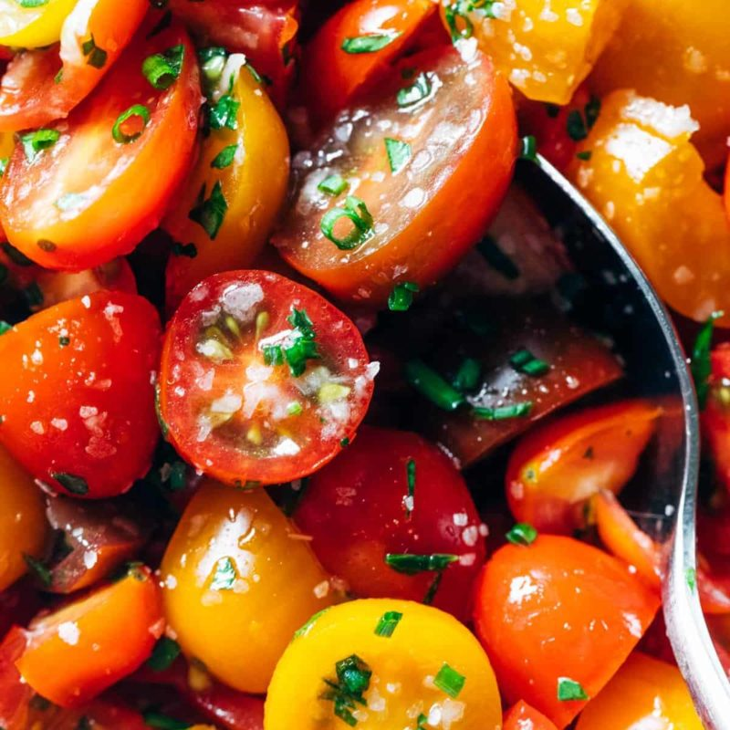 A picture of 5-Ingredient Marinated Tomatoes