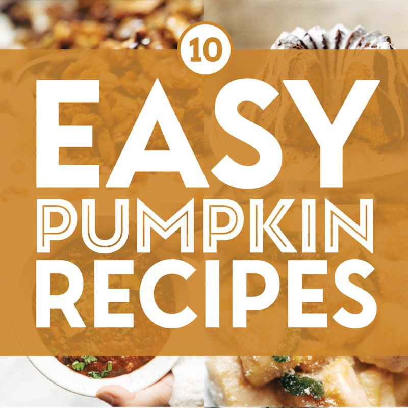 Easy pumpkin recipes in a collage.