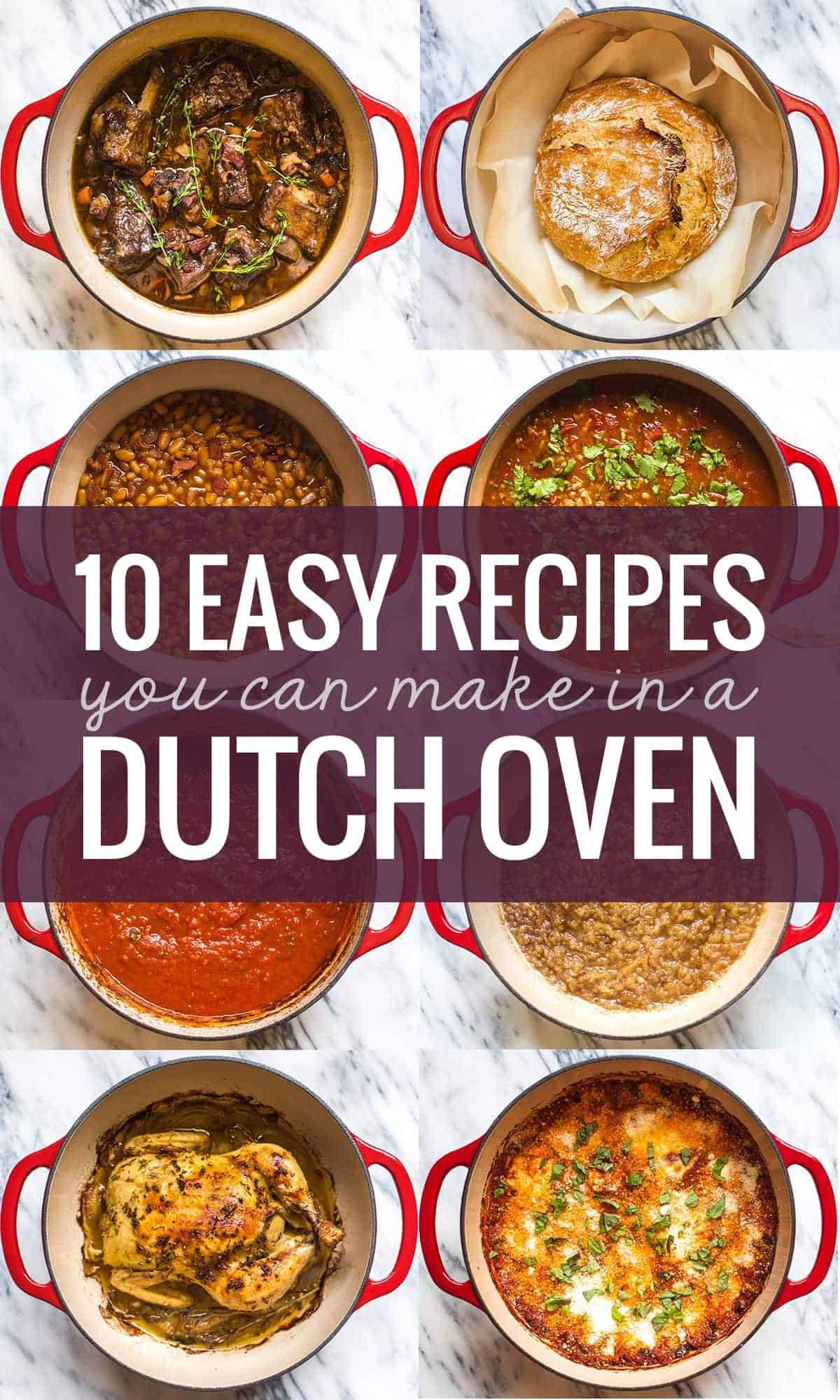 10 easy recipes you can make in a dutch oven pinch of yum ten easy recipes for a dutch oven with a collage forumfinder Image collections