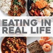 Four meals in dishes for Eating in Real Life.