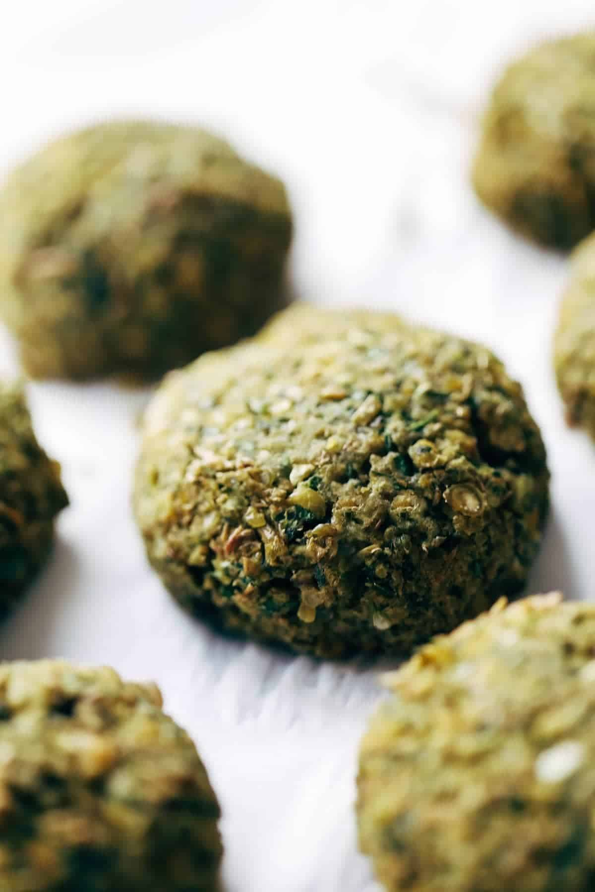 Easy falafel at home in 30 minutes WITHOUT deep frying! Use in salads, sandwiches, and other healthy recipes. Vegetarian / Vegan / Gluten Free. 70 calories per falafel. | pinchofyum.com