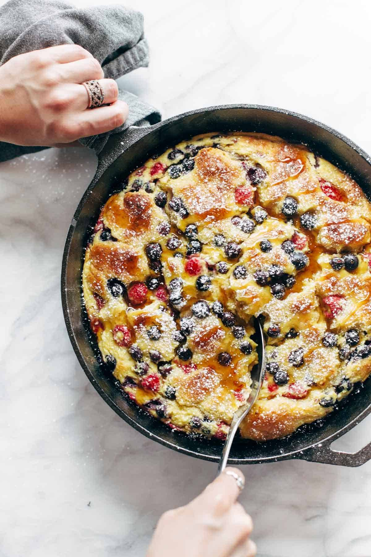 French Toast Casserole With Ricotta, Berries, And A Super Easy Homemade  Dough No