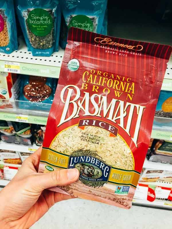 Grocery Shopping at Target - Brown Rice.