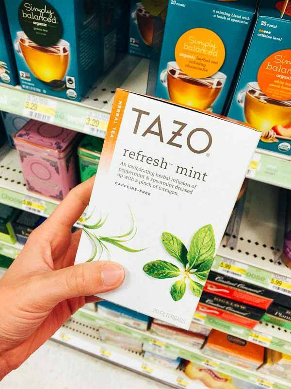 Grocery Shopping at Target - Tazo