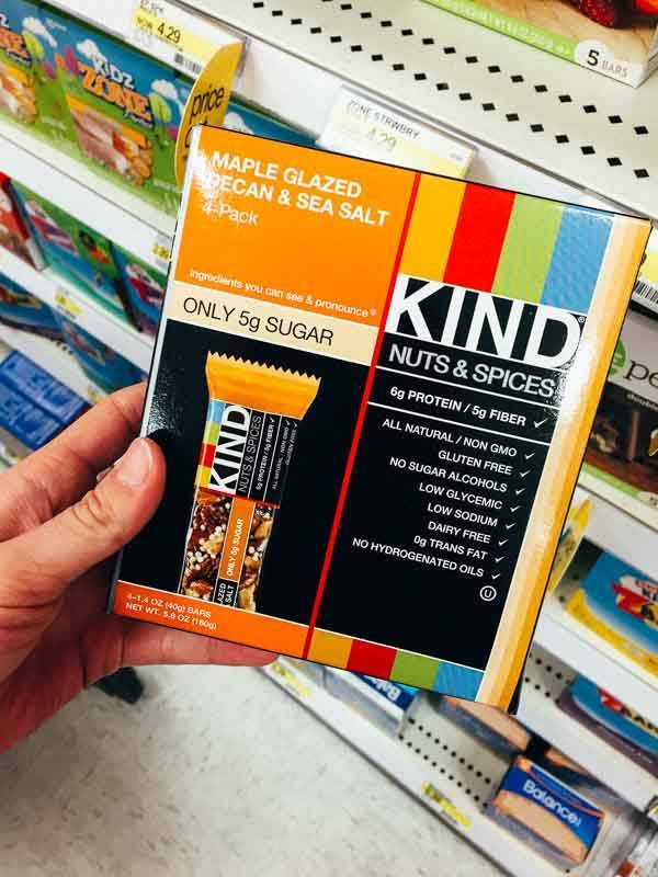 Grocery Shopping at Target - Kind Bars.