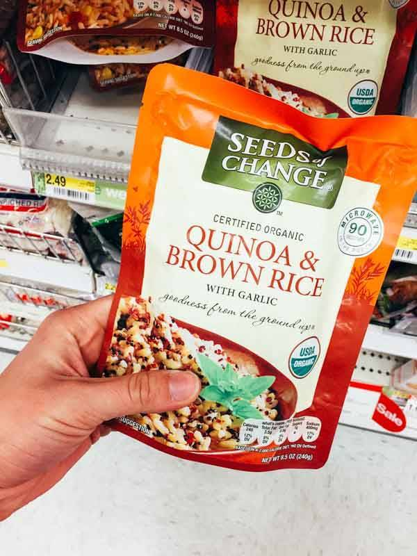 Grocery Shopping at Target - Quinoa and Brown Rice.