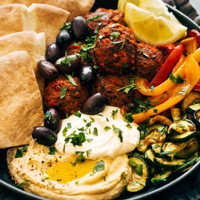 A picture of Harissa Meatballs with Whipped Feta