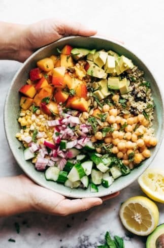 Couscous Summer Salad in a bowl.
