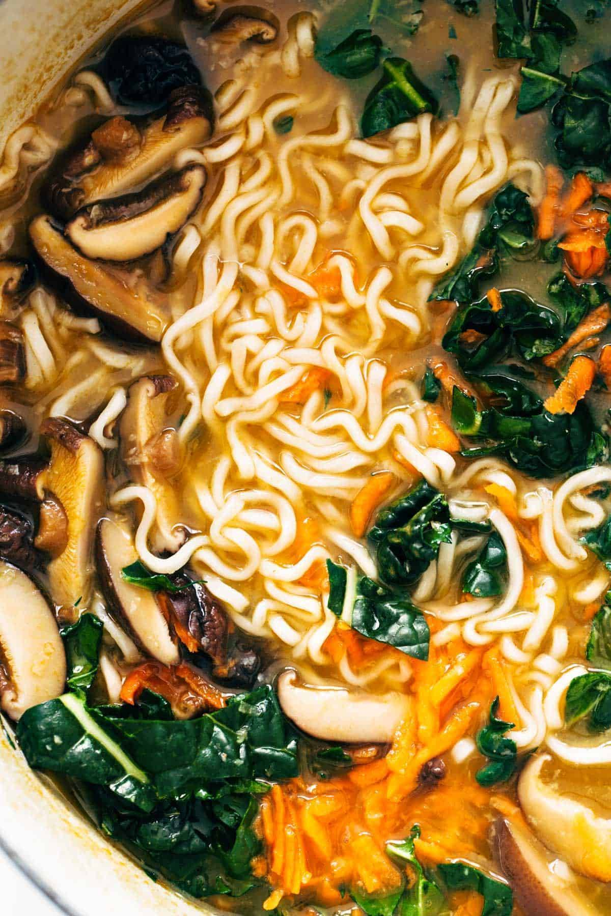 Close-up image of Quick Homemade Ramen