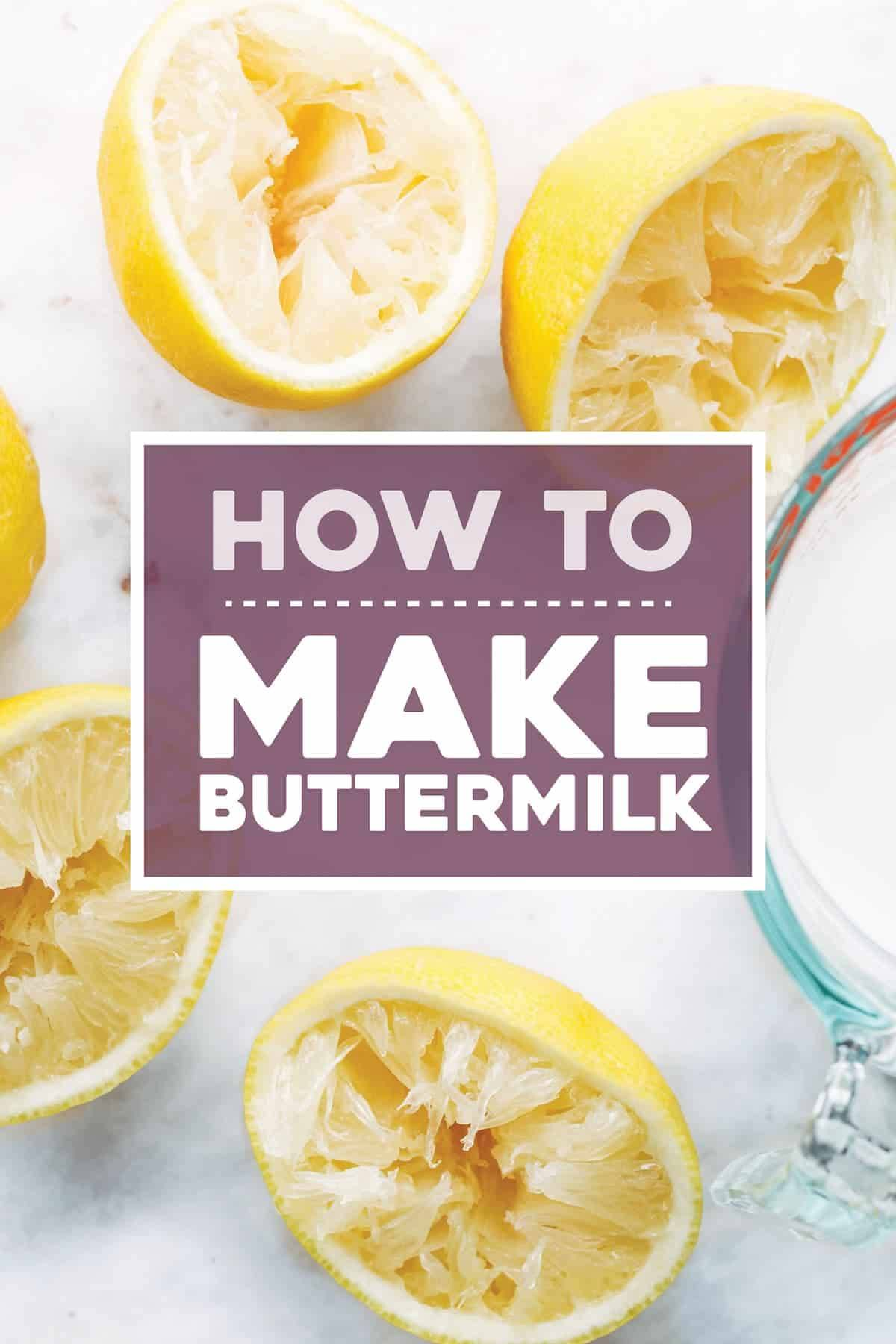 How to make buttermilk.