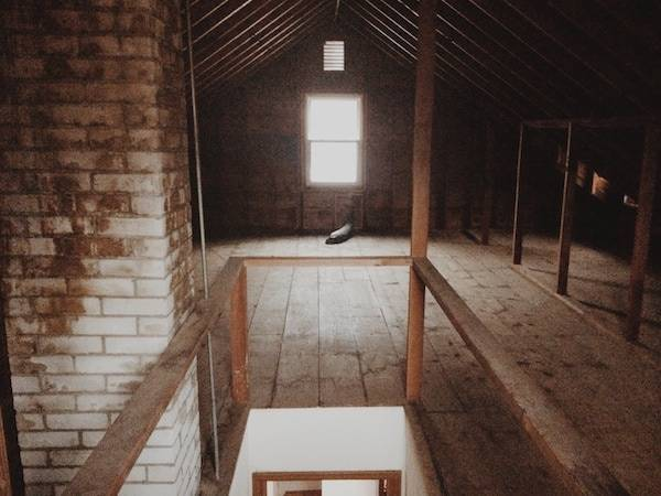 Unfinished Attic.