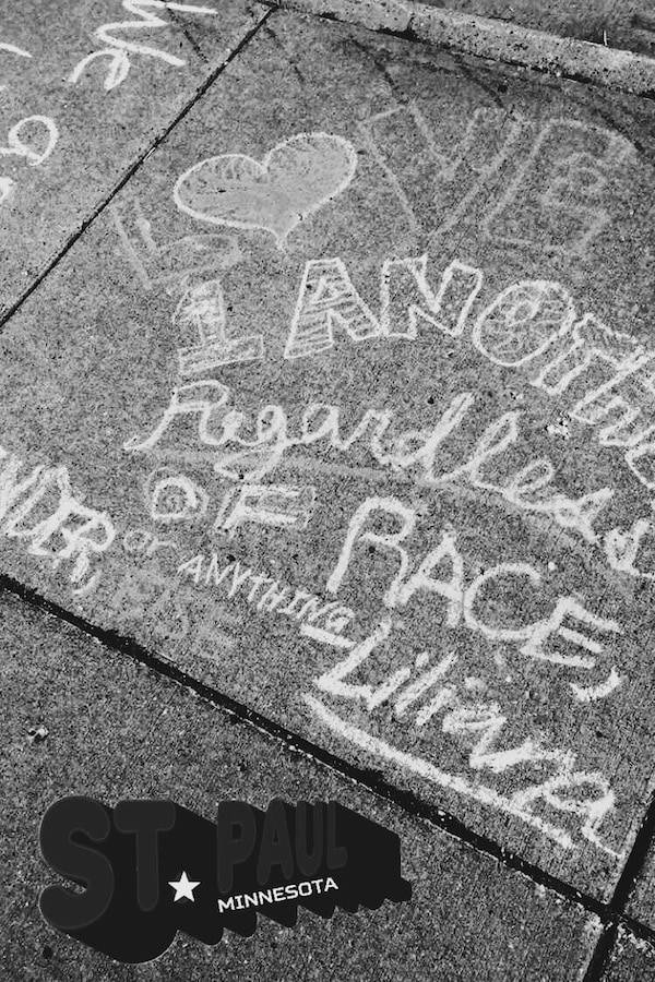 Chalk Art for Philando Castile