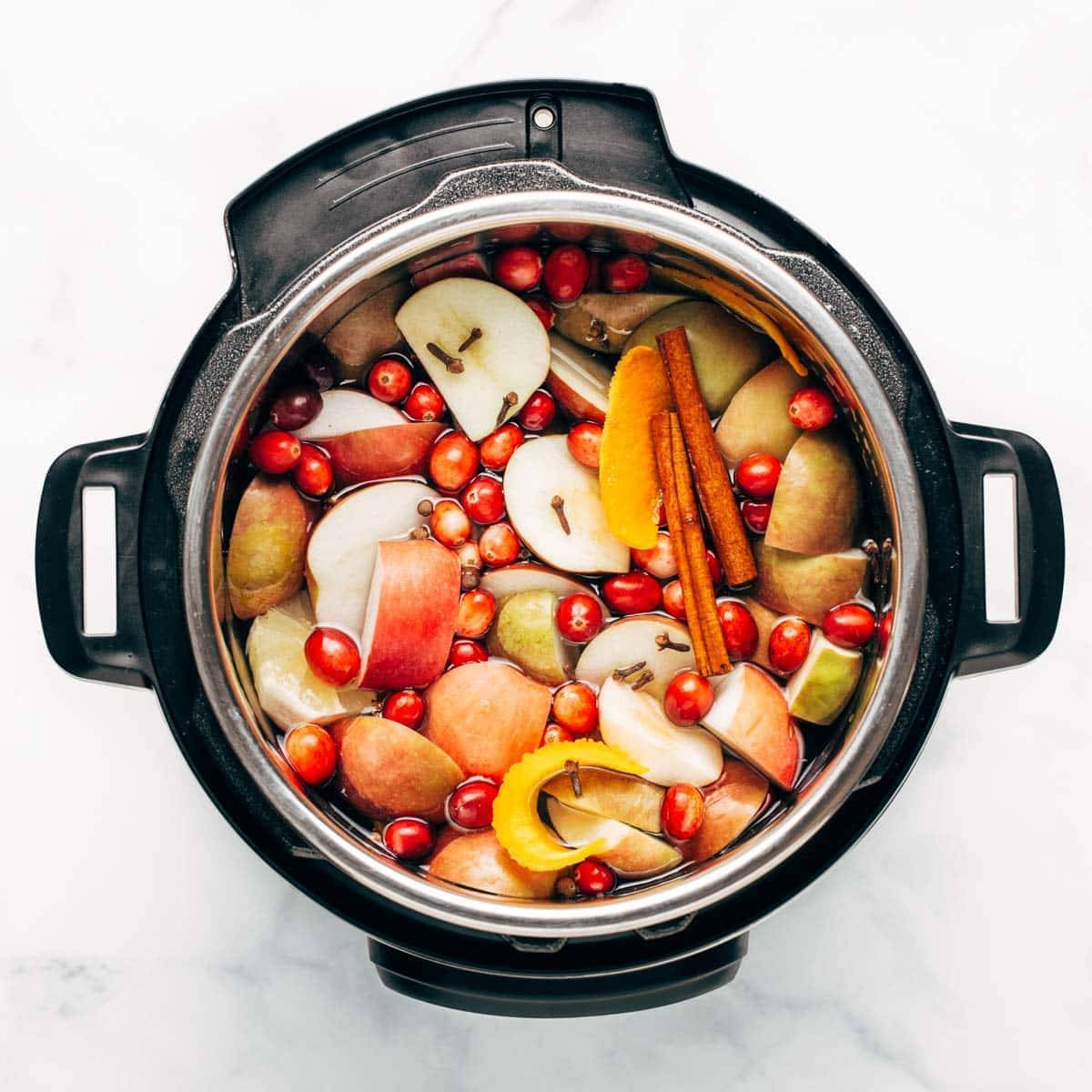 Apple cider in the Instant Pot.