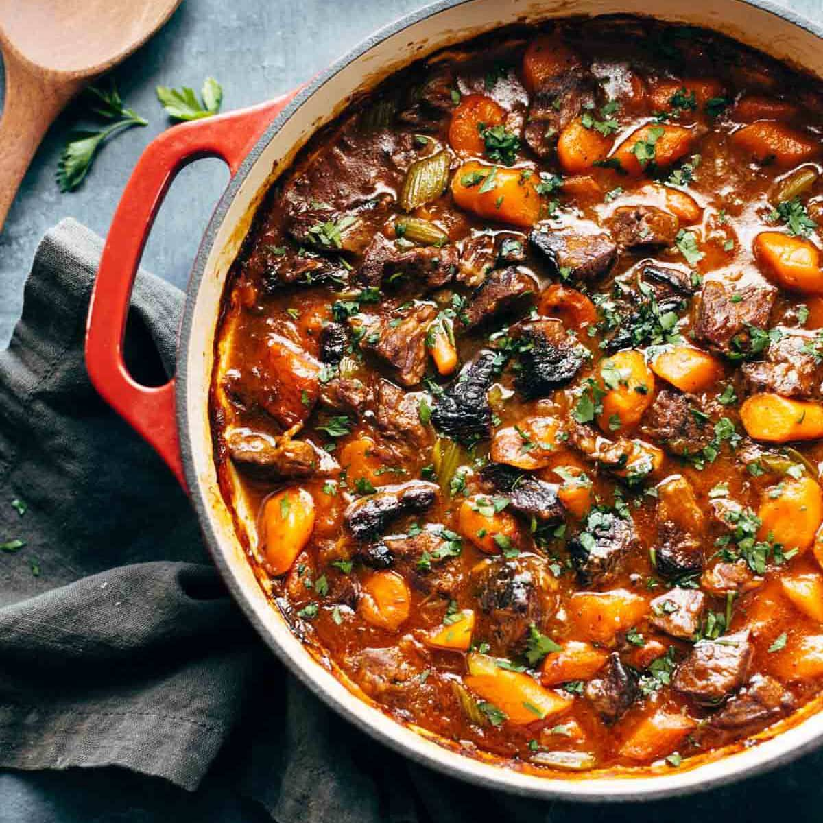 Beef Stew in a pot.