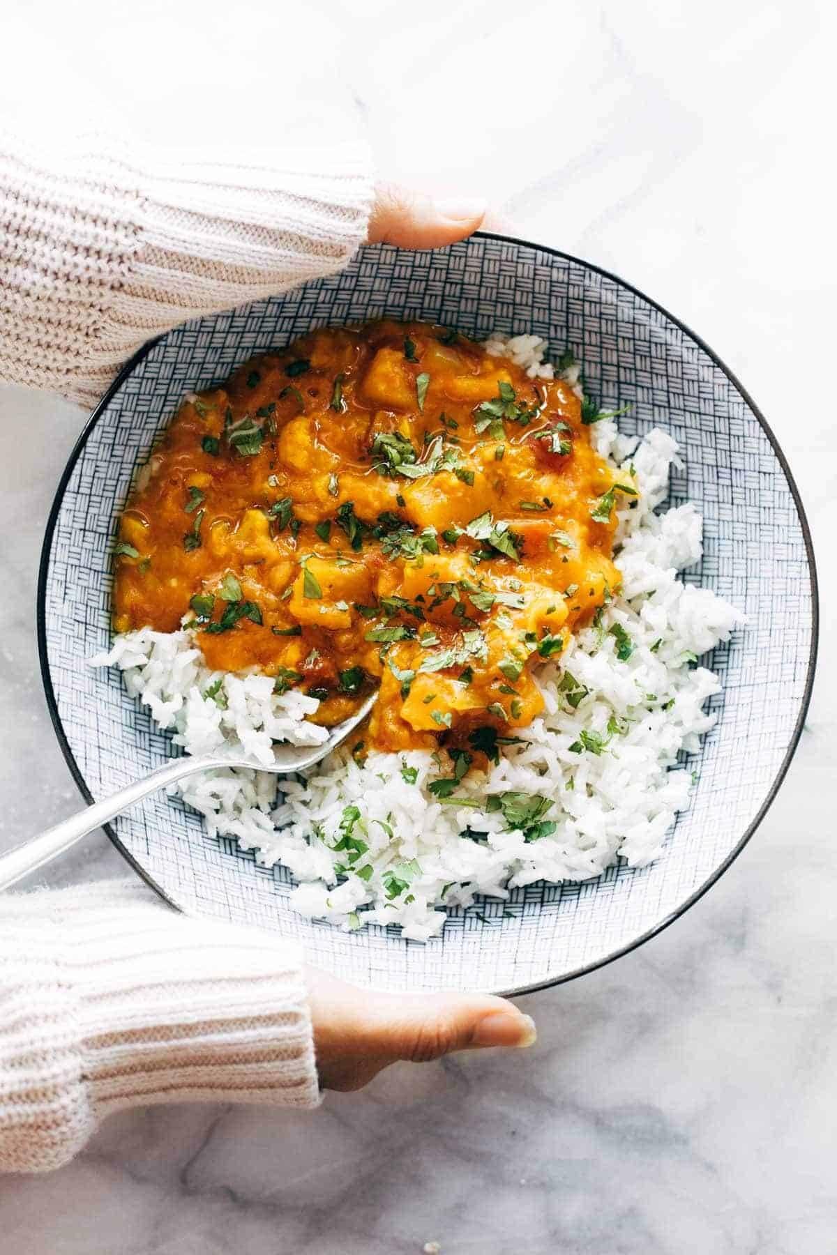 Instant Pot Cauliflower Curry