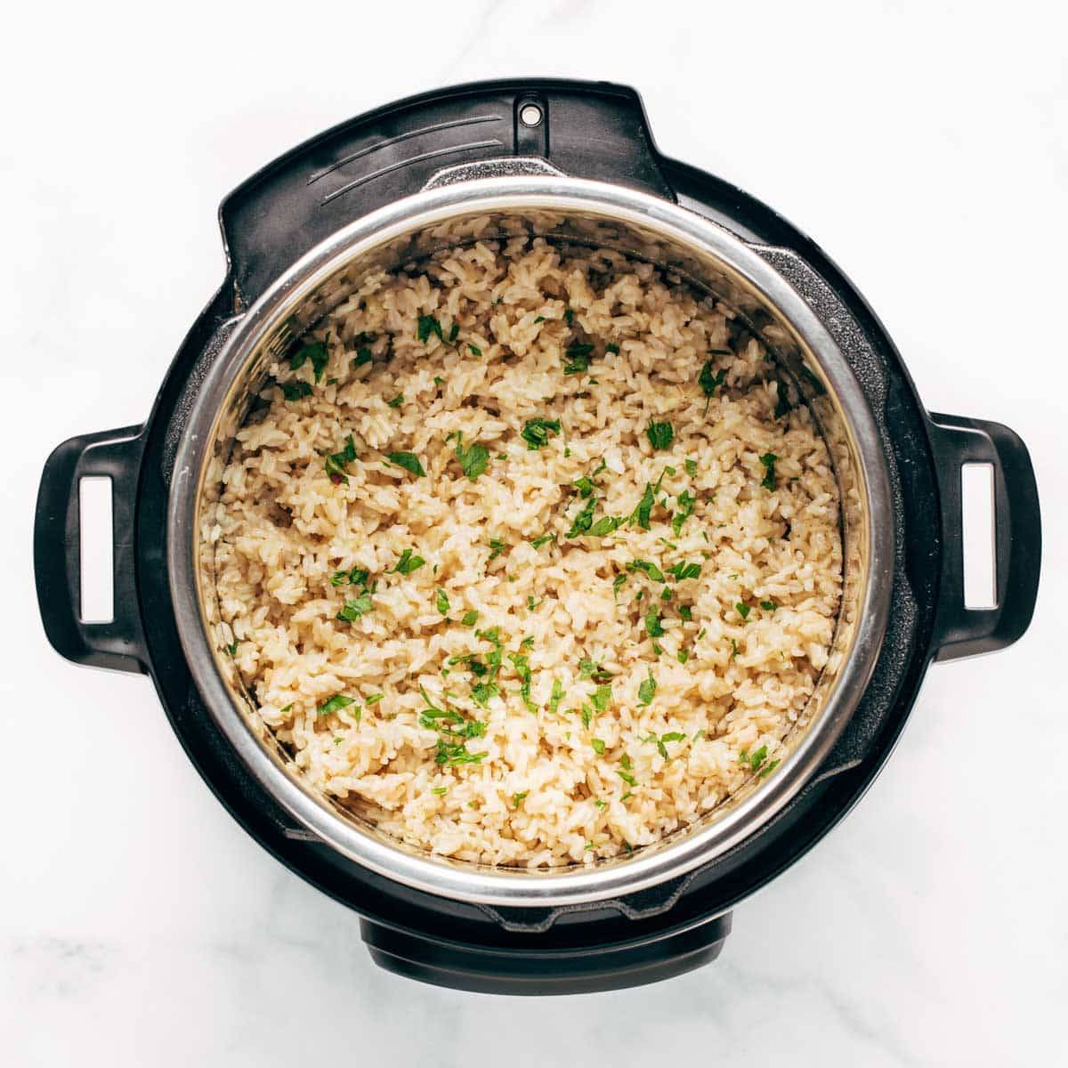 Brown rice in the Instant Pot.