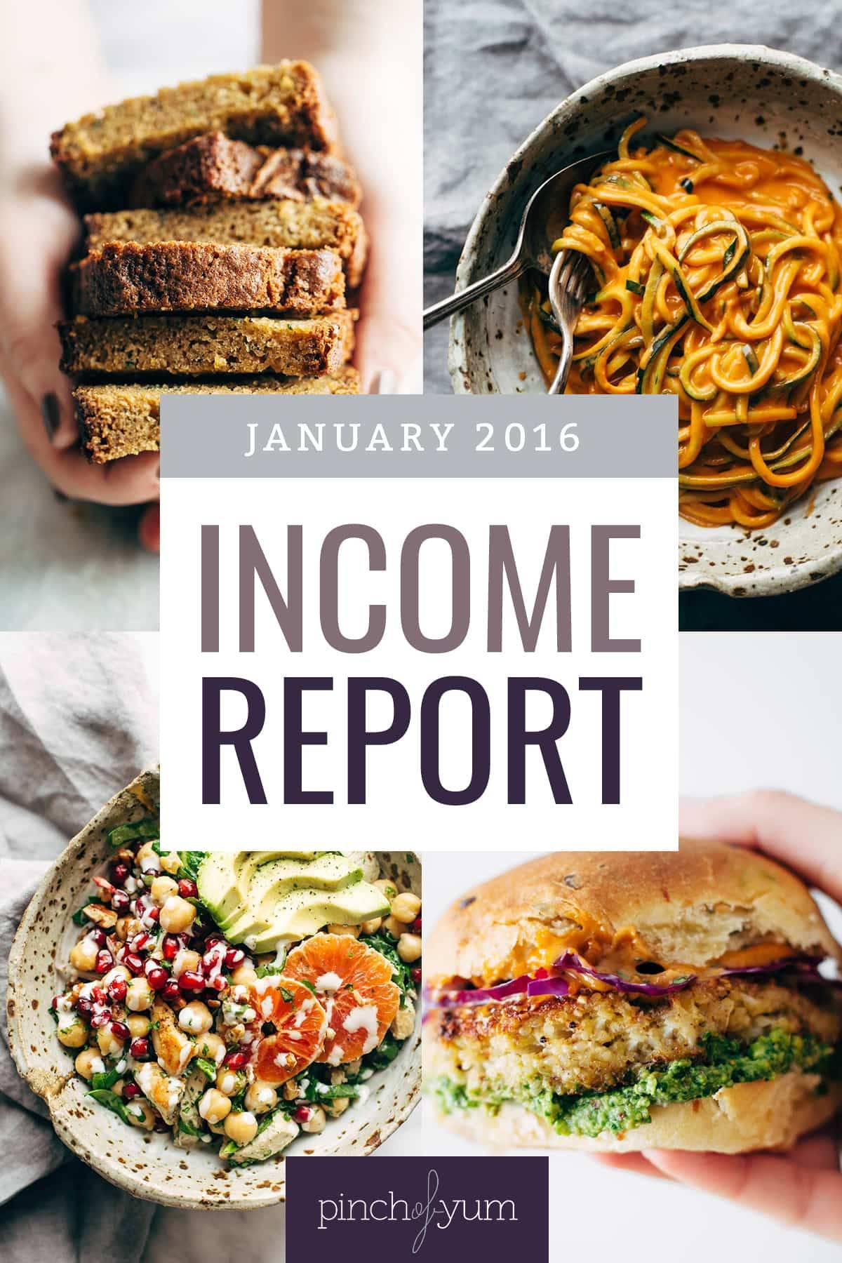 January Traffic and Income Report collage images.