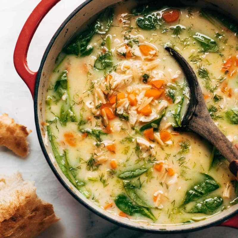 A picture of Lemon Chicken Soup with Orzo