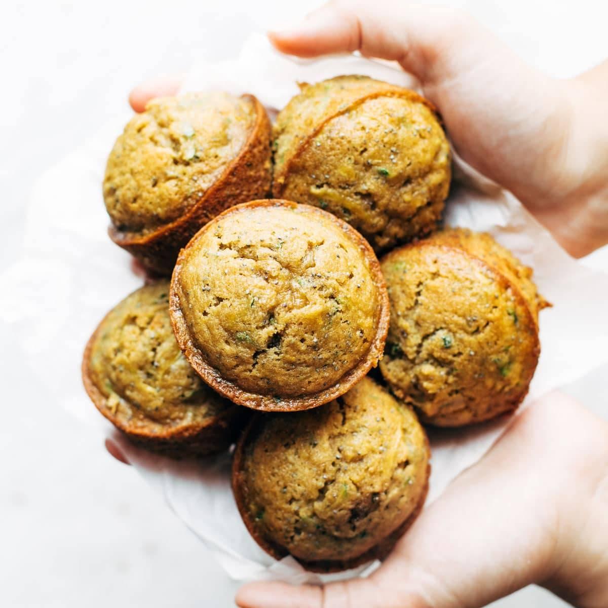 Lemon Poppyseed Zucchini Muffins.
