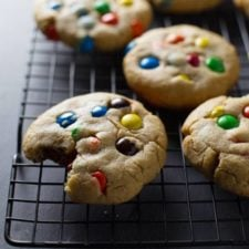 Big Soft M M Cookies Recipe Pinch Of Yum