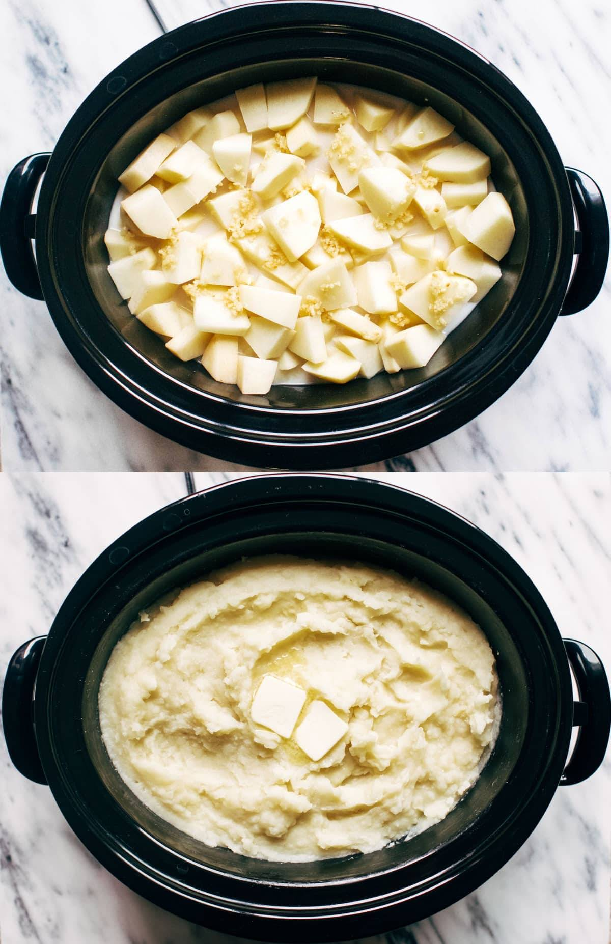Slow Cooker Mashed Potatoes | pinchofyum.com