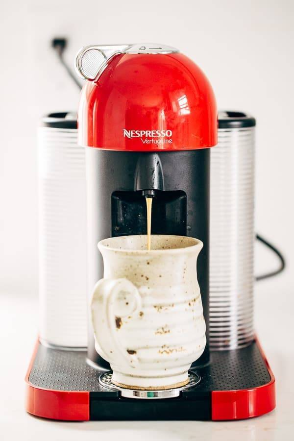 Nespresso in red.