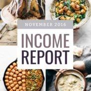November 2016 Traffic and Income Report | pinchofyum.com