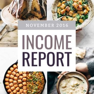 November 2016 Traffic and Income Report | pinchofyum.com
