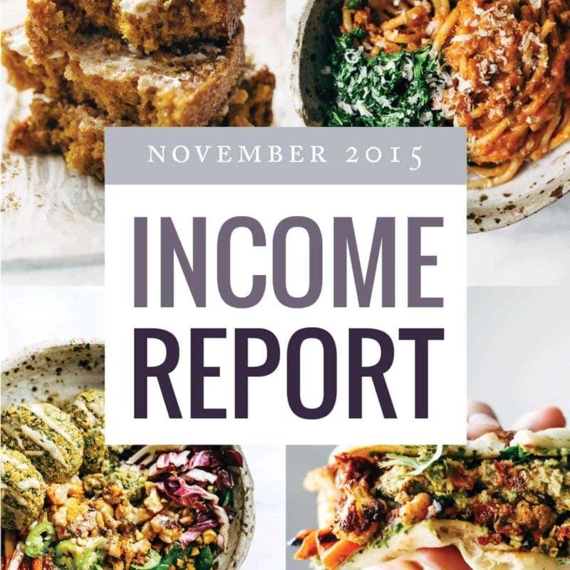 November Traffic and Income Report | pinchofyum.com