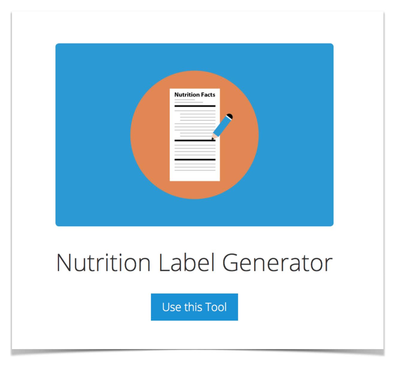 Nutrition Label Generator.