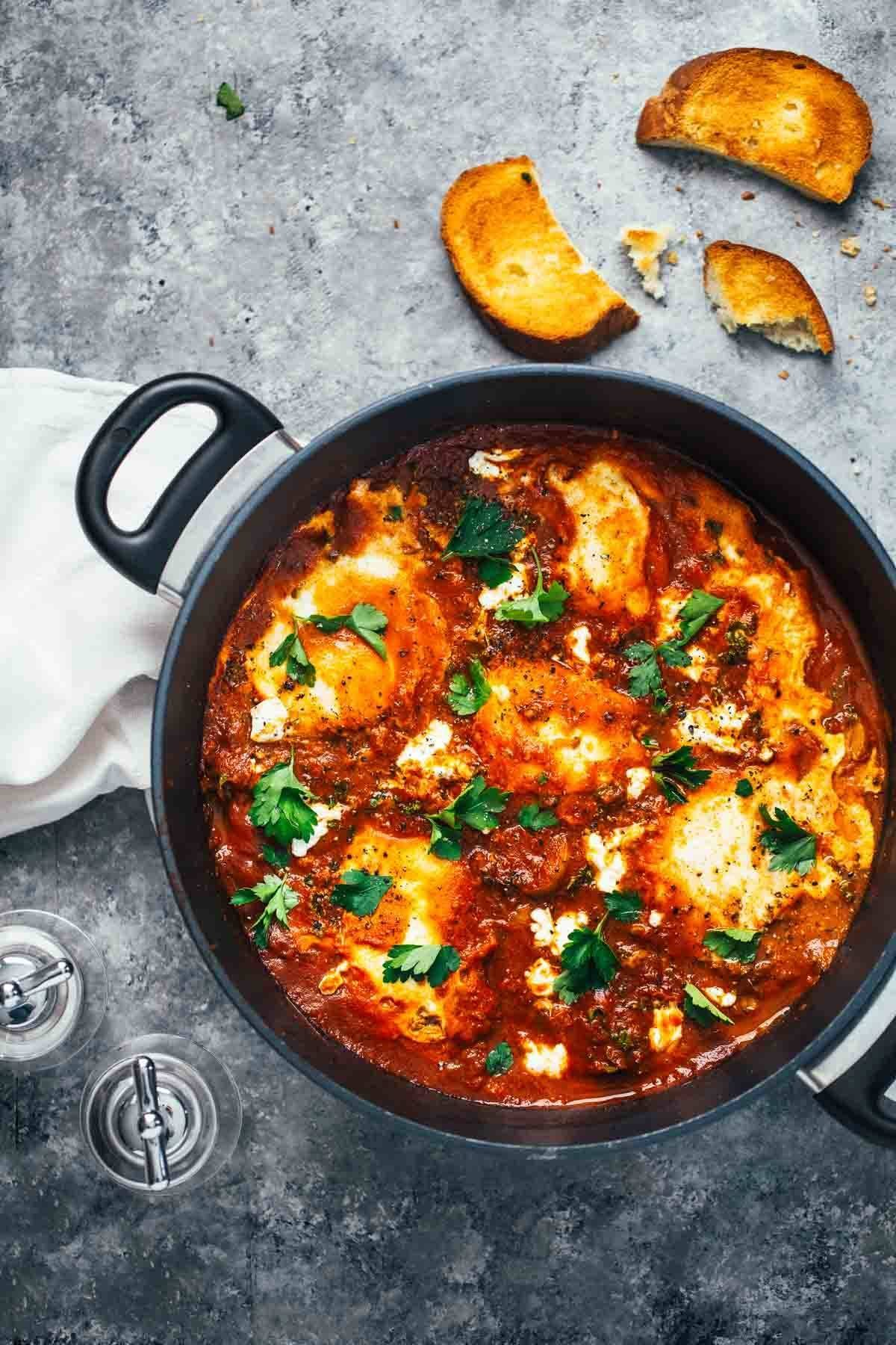 One-Pot Spicy Eggs and Potatoes.
