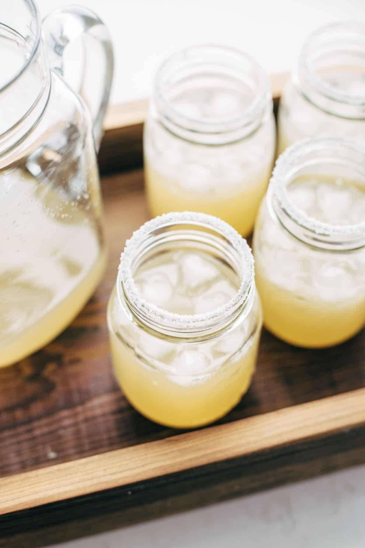 Margaritas in jars.
