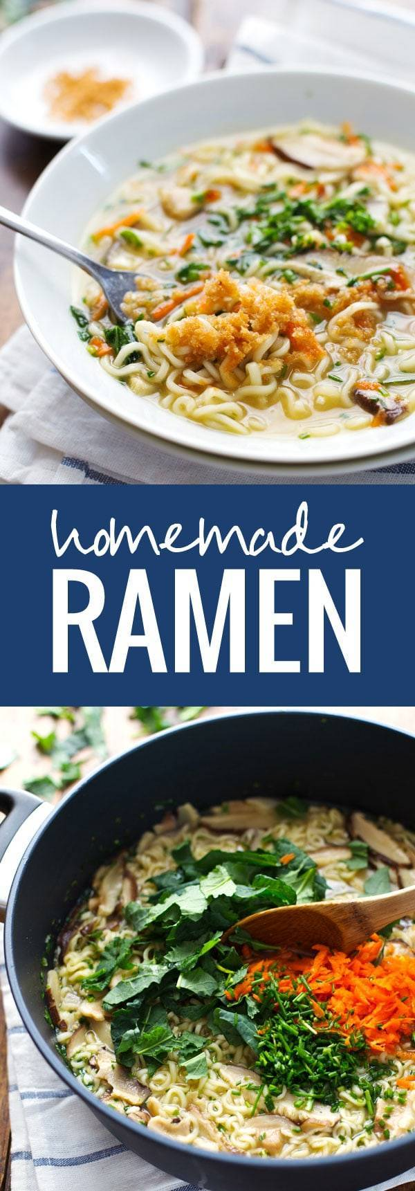 Quick Homemade Ramen - comes to life with fresh vegetables and herbs in just in 20 minutes! | pinchofyum.com