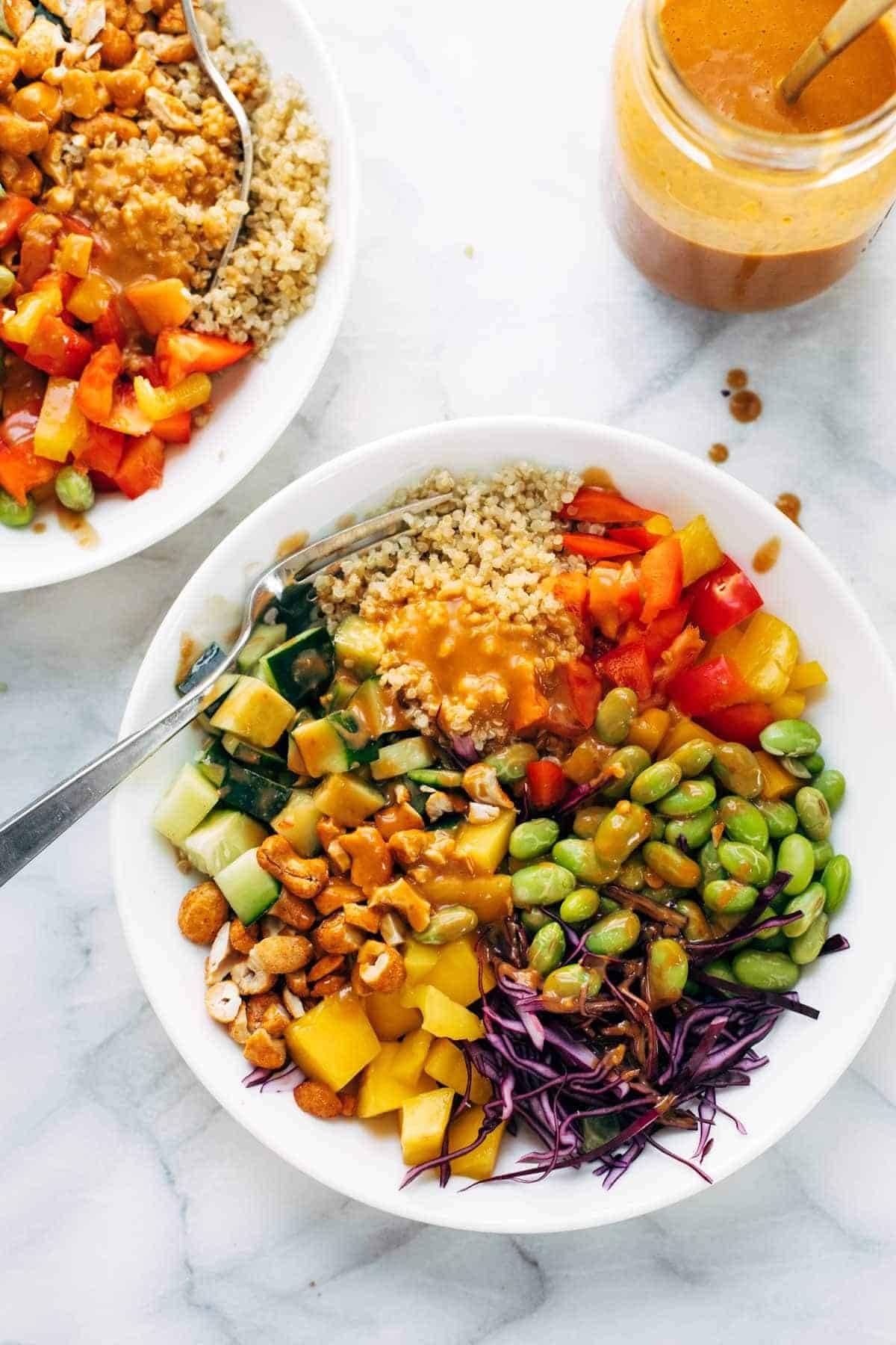 Quinoa crunch salad.