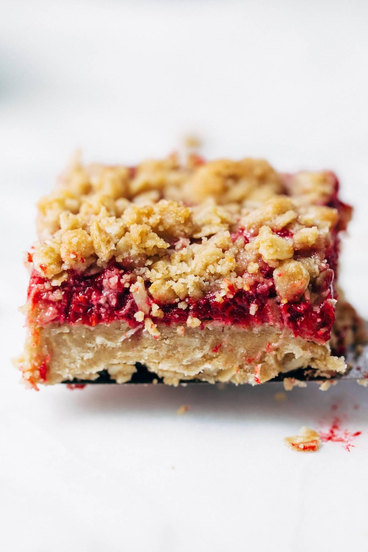 Raspberry Crumble Bar.