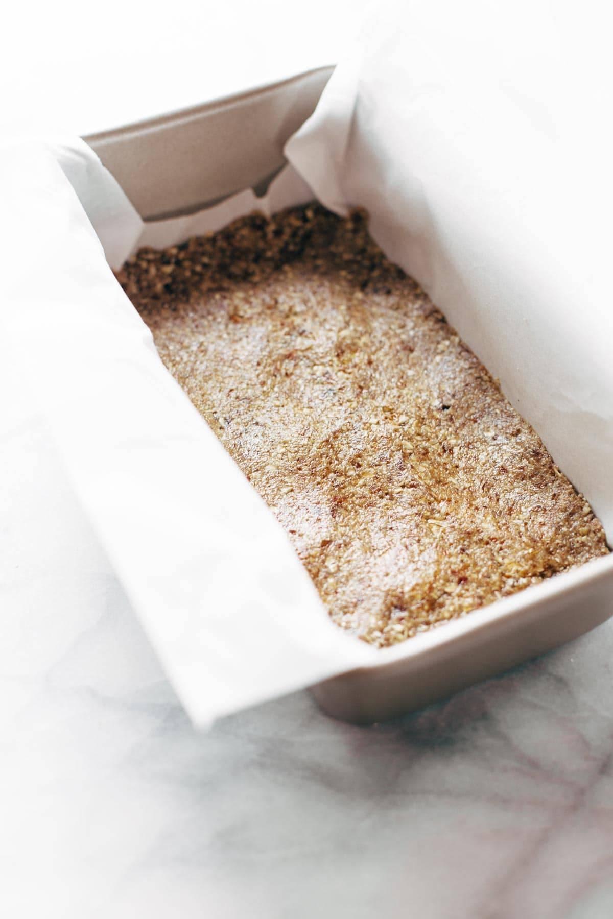 Crust for Raw Salted Chocolate Bars | pinchofyum.com