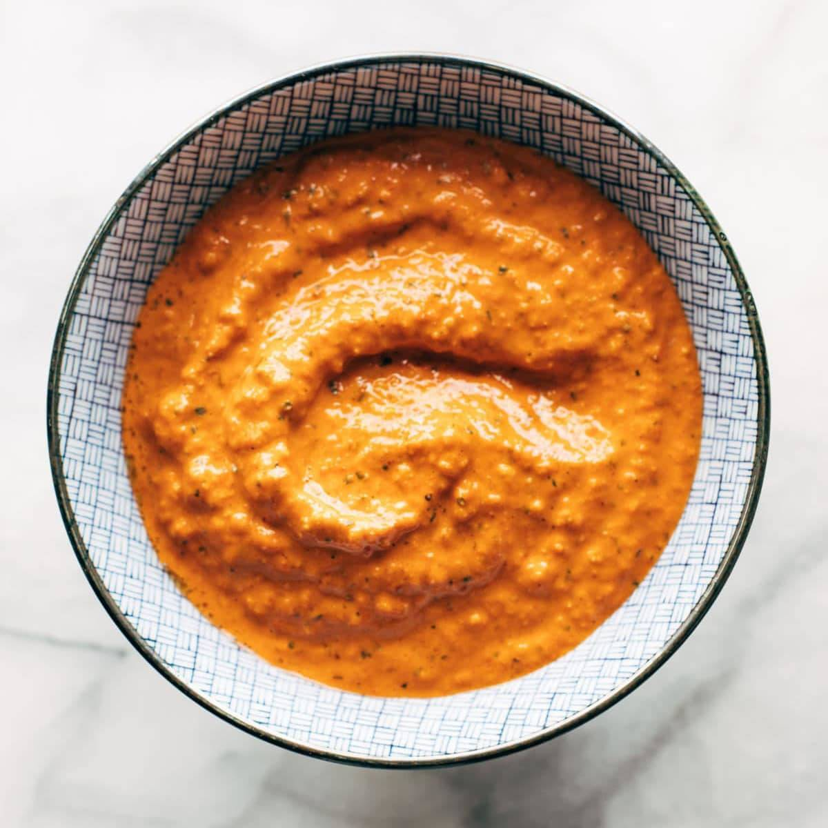 Roasted Red Pepper Sauce Recipe - Pinch of Yum