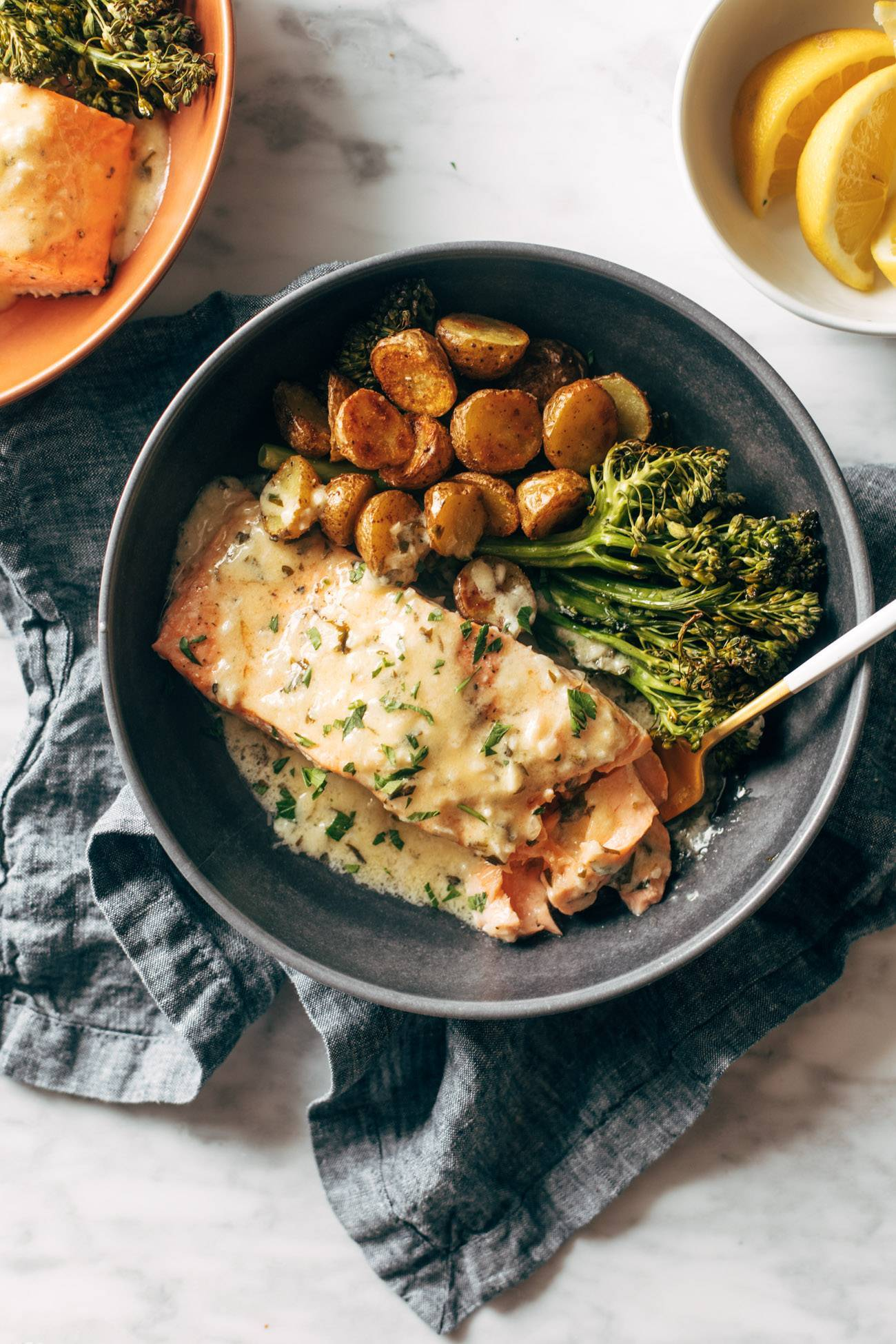 Food Find: Baked Salmon with Lemon Sauce