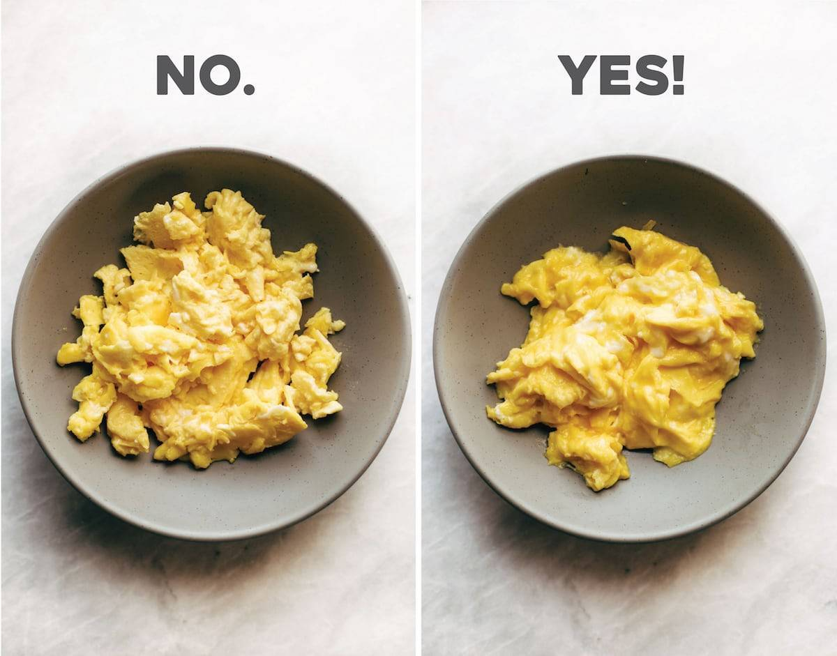 The absolute best soft scrambled eggs of my life! No strange ingredients or methods - just four quick and easy secrets to the best scrambled eggs of your life. | pinchofyum.com