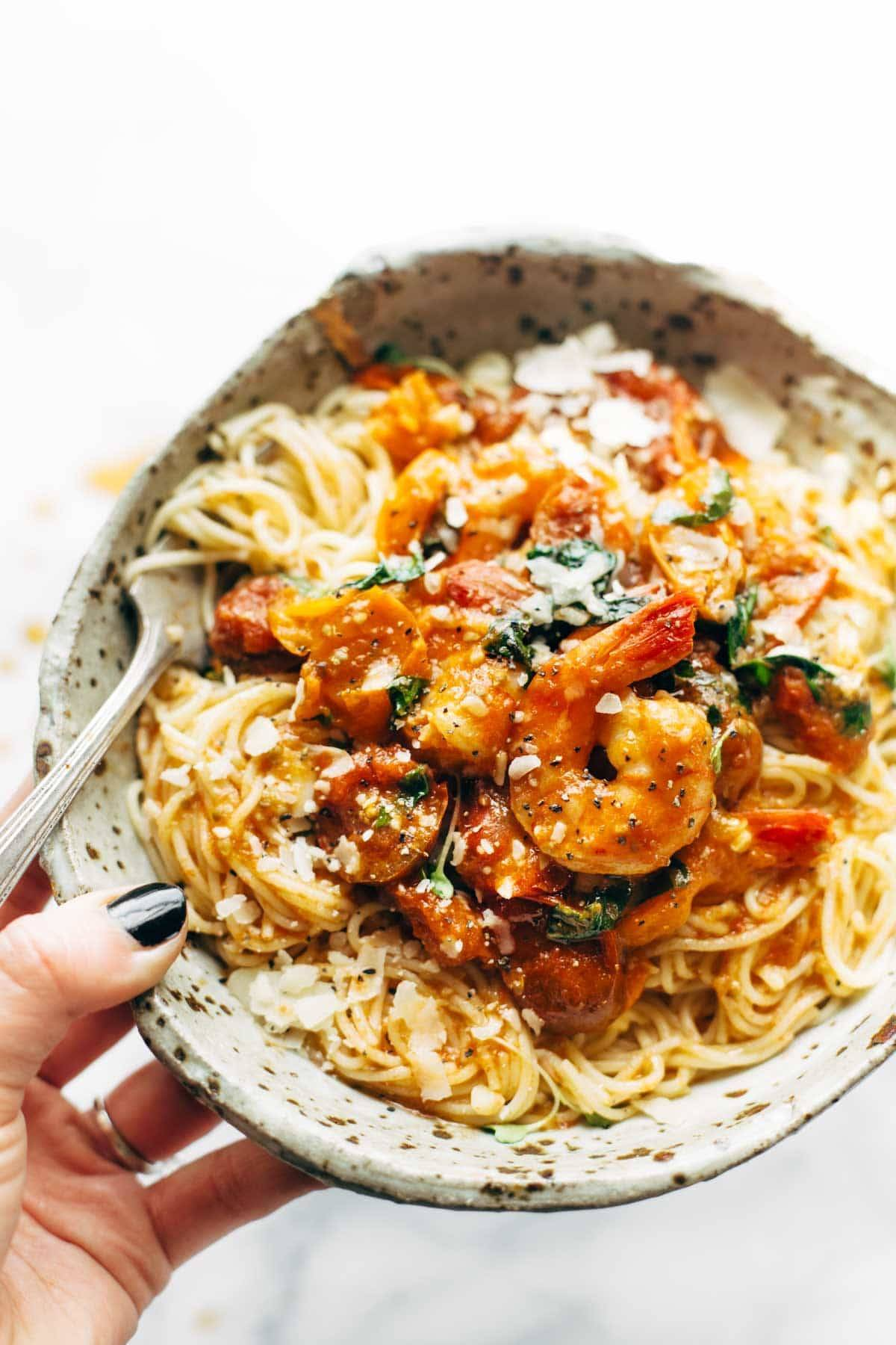 Shrimp basil pasta recipe easy