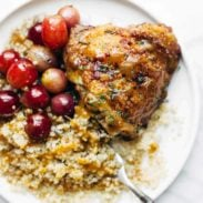 Skillet Chicken with Grapes