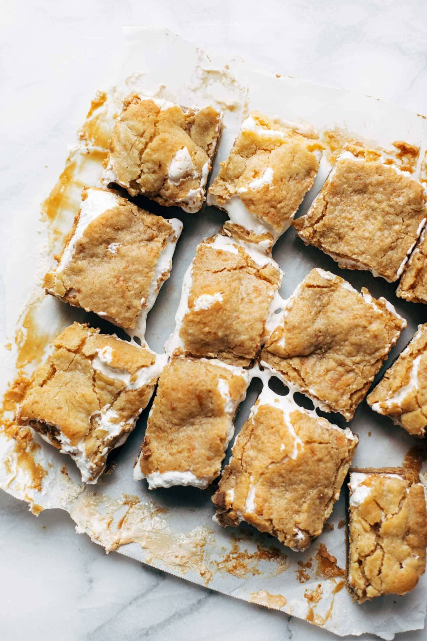 S'Mores Bars cut into squares